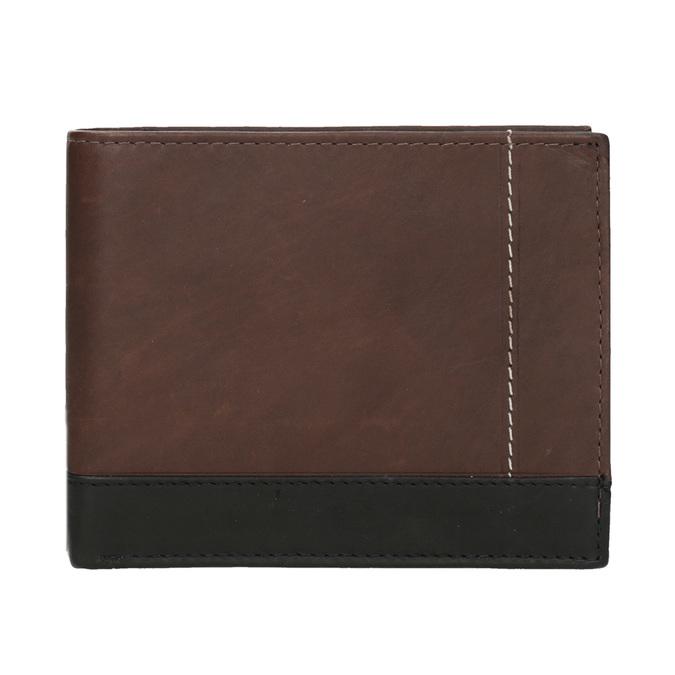Herren-Geldbörse aus Leder bata, Braun, 944-8149 - 26