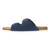 Herren-Hausschuhe aus Leder, Blau, 873-9610 - 26