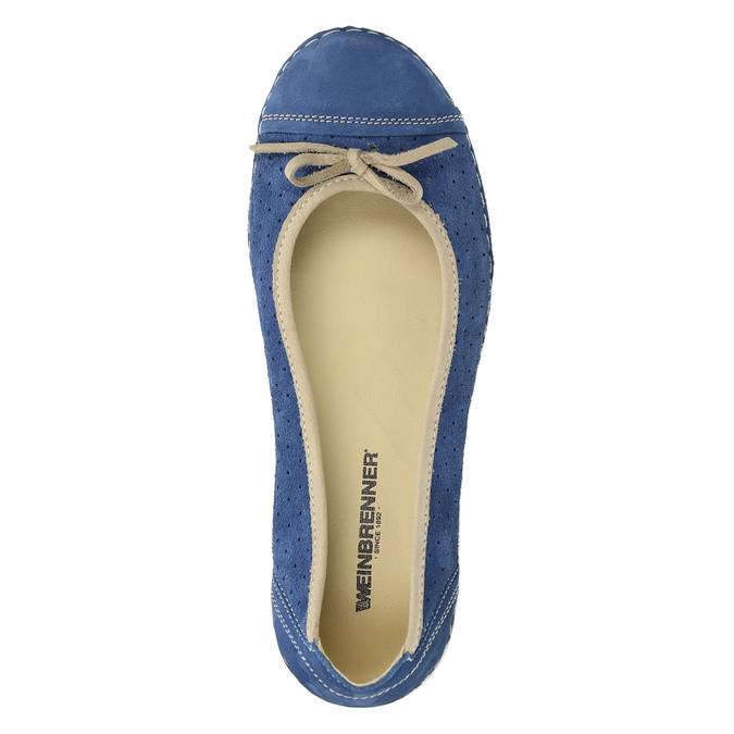 Legere Ballerinas aus Leder weinbrenner, Blau, 526-9503 - 19