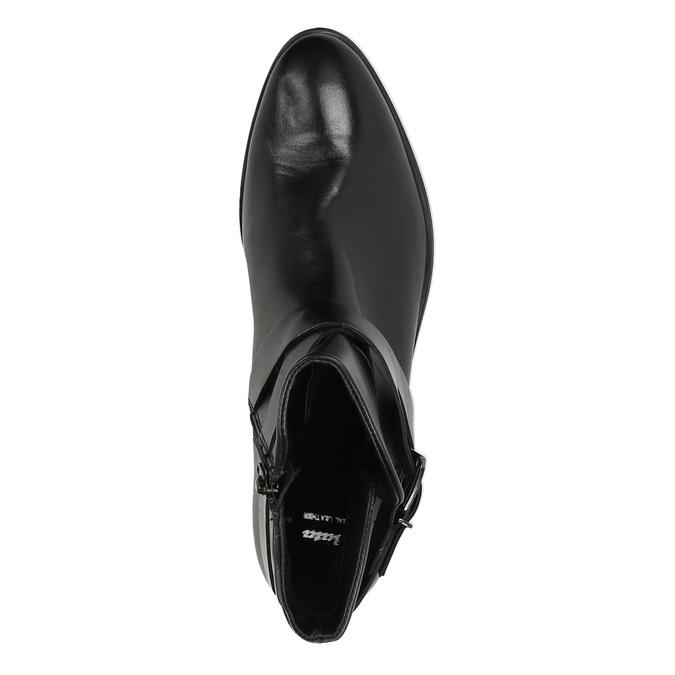 Knöchelschuhe aus Leder mit einer Schnalle bata, Schwarz, 594-6602 - 19