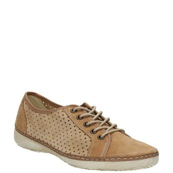 Leder-Sneakers weinbrenner, Braun, 546-4238 - 13