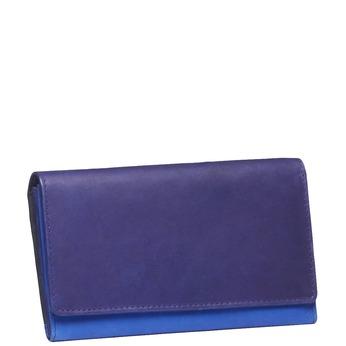 Damen-Geldbörse aus Leder bata, Violett, Blau, 944-9156 - 13