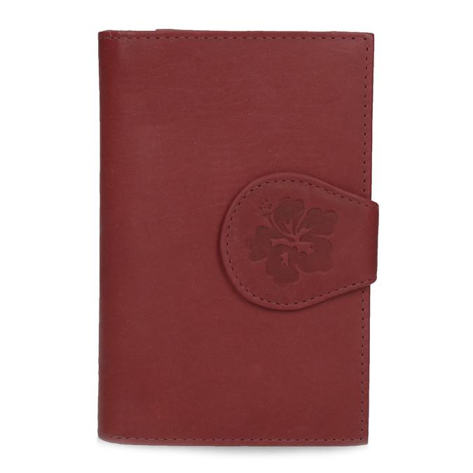Damen-Geldbörse aus Leder, Rot, 944-5155 - 26