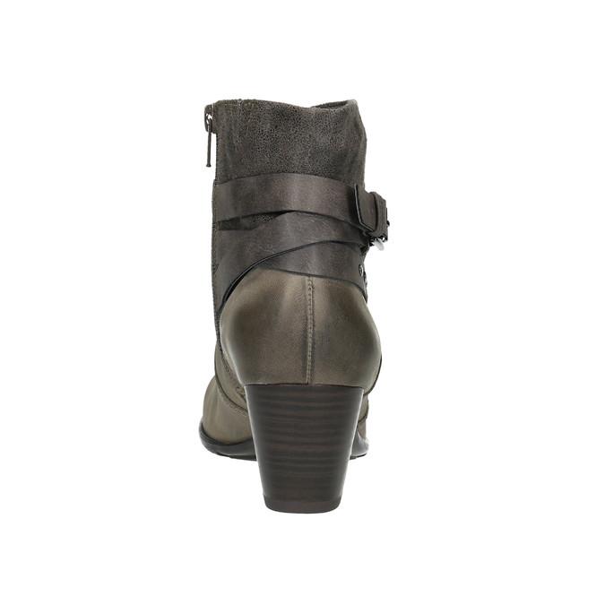 Knöchelschuhe für Damen bata, Grau, 696-2617 - 17