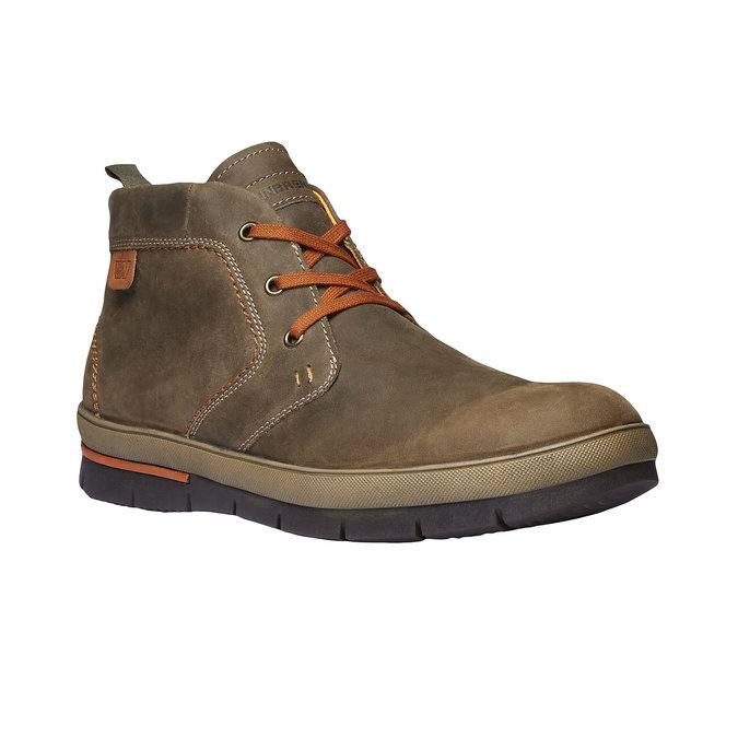 Leder-Sneakers weinbrenner, Braun, 894-2209 - 13