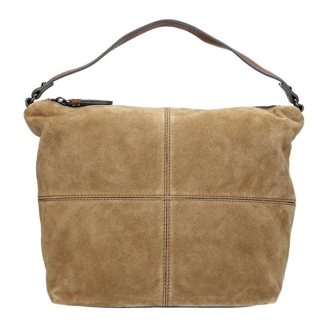 Leder-Handtasche mit Steppung bata, Braun, 963-3130 - 26