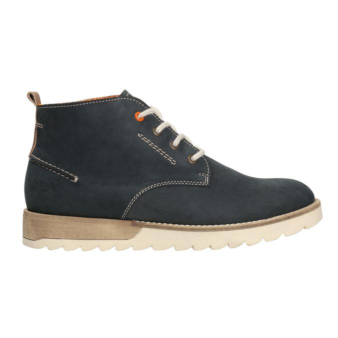 Herren Chukka Boots aus Leder weinbrenner, Blau, 846-9629 - 26