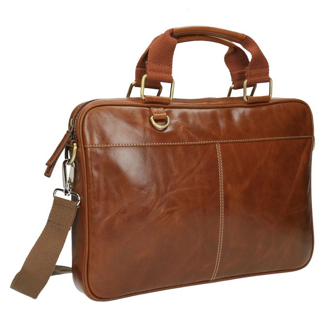 Braune Herrentasche aus Leder bata, Braun, 964-3204 - 13