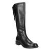 Schwarze Lederstiefel für Damen bata, Schwarz, 596-6604 - 13