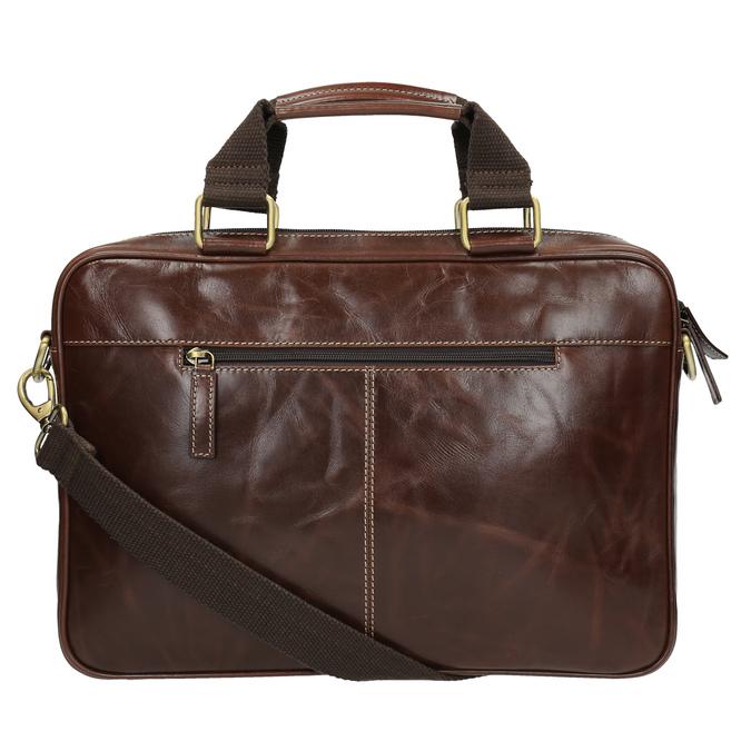 Braune Herrentasche aus Leder bata, Braun, 964-4204 - 26