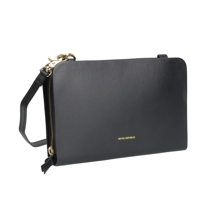 Schwarze Crossbody-Handtasche aus Leder royal-republiq, Schwarz, 964-6017 - 13