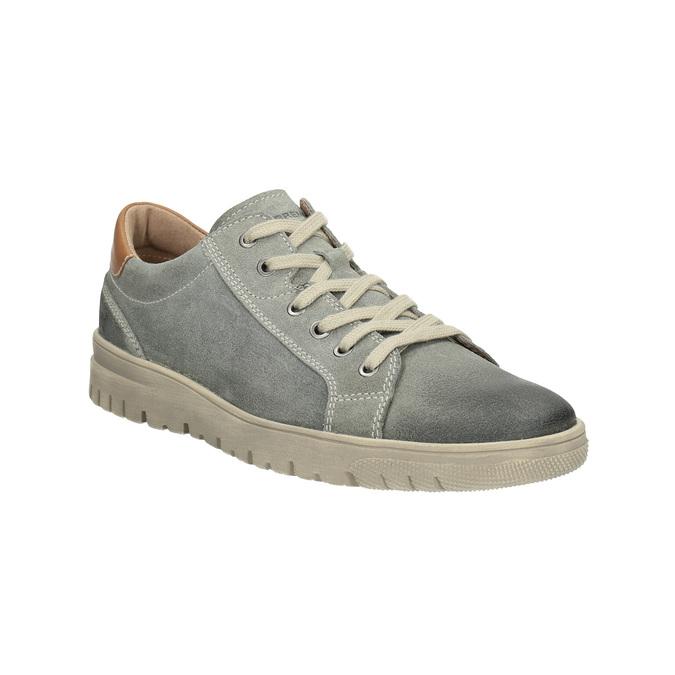 Herren-Sneakers aus Leder weinbrenner, Grau, 843-2620 - 13