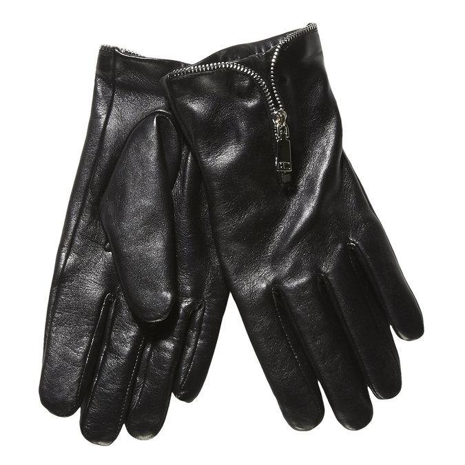 Damen-Lederhandschuhe mit Reißverschluss bata, Schwarz, 904-6111 - 13