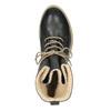 Knöchelschuhe aus Leder mit wärmender Fütterung bata, Schwarz, 594-6610 - 19