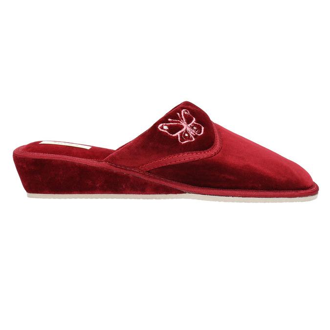Damen-Hausschuhe mit Keilabsatz bata, Rot, 679-5607 - 15