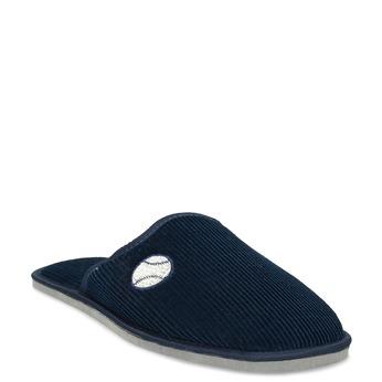 Herren-Hausschuhe bata, Blau, 879-9609 - 13