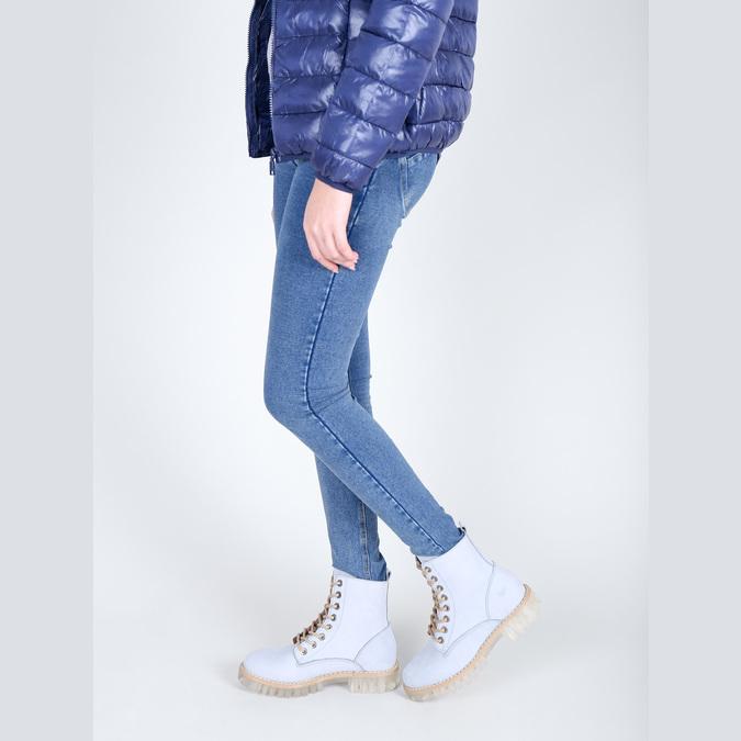 Knöchelschuhe aus Leder mit transparenter Sohle weinbrenner, Blau, 596-9639 - 18