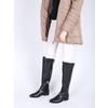Overknee-Damenstiefel aus Leder bata, Schwarz, 594-6605 - 18
