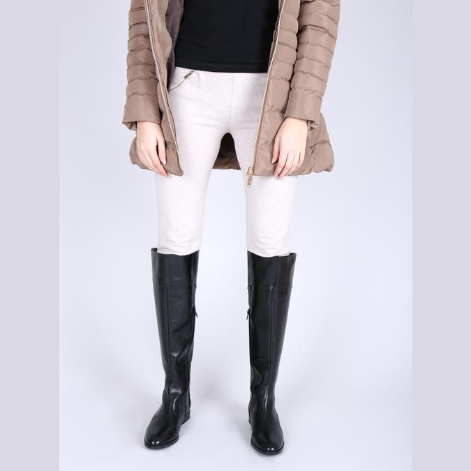 Overknee-Damenstiefel aus Leder bata, Schwarz, 594-6605 - 15