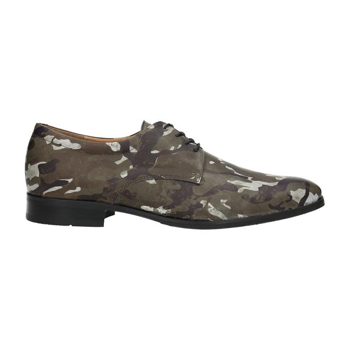 Lederhalbschuhe mit Camouflage-Muster climatec, Grűn, 826-7600 - 15