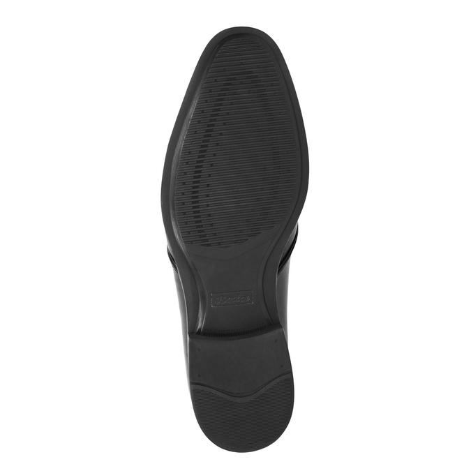 Schwarze Lederhalbschuhe bata, Schwarz, 824-6754 - 26