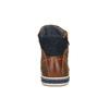 Knöchelhohe Sneakers aus Leder mit Reißverschluss bata, Braun, 844-3632 - 17
