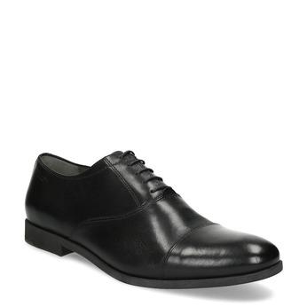 Schwarze Lederhalbschuhe im Oxford-Stil vagabond, Schwarz, 824-6048 - 13