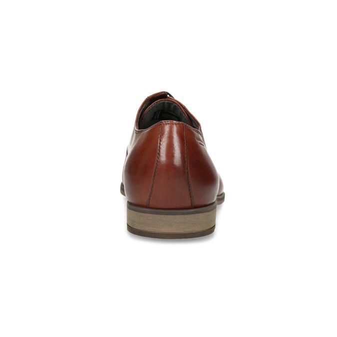 Braune Lederhalbschuhe im Oxford-Stil vagabond, Braun, 824-3048 - 15