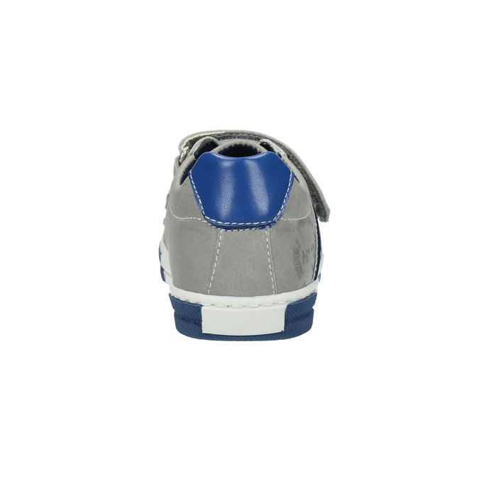 Kinder Leder-Sneakers mit Klettverschluss mini-b, Grau, 214-2600 - 17