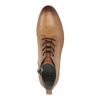 Leder-Knöchelschuhe mit Perforation bata, Braun, 596-4645 - 19
