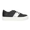 Schwarze Sneakers mit silbernem Streifen north-star, Schwarz, 521-6605 - 15