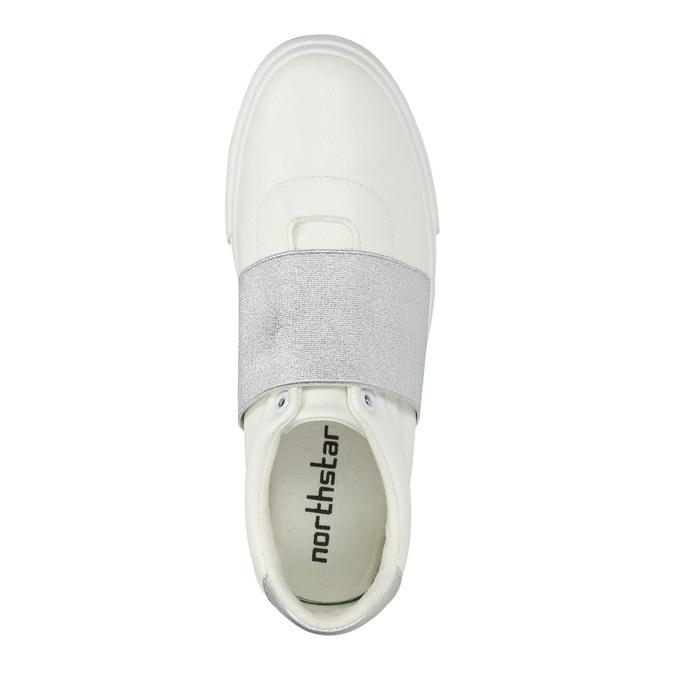 Weisse Sneakers mit silbernem Streifen north-star, Weiss, 511-1602 - 19