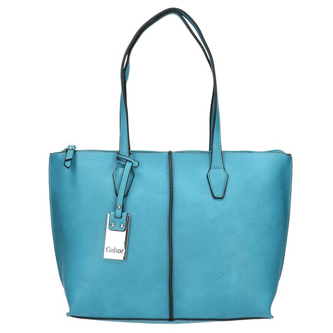 Blaue Shopper-Handtasche gabor-bags, türkis, 961-9074 - 26