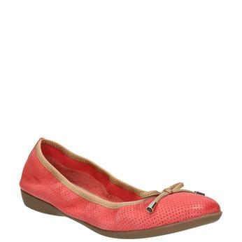 Rote Ballerinas mit elastischem Rand bata, Rot, 526-5617 - 13