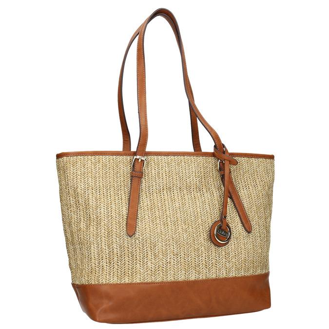 Shopper-Handtasche mit geflochtenem Muster gabor-bags, Beige, 961-8073 - 13