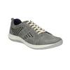 Leder-Sneakers mit Perforation bata, Grau, 846-2634 - 13