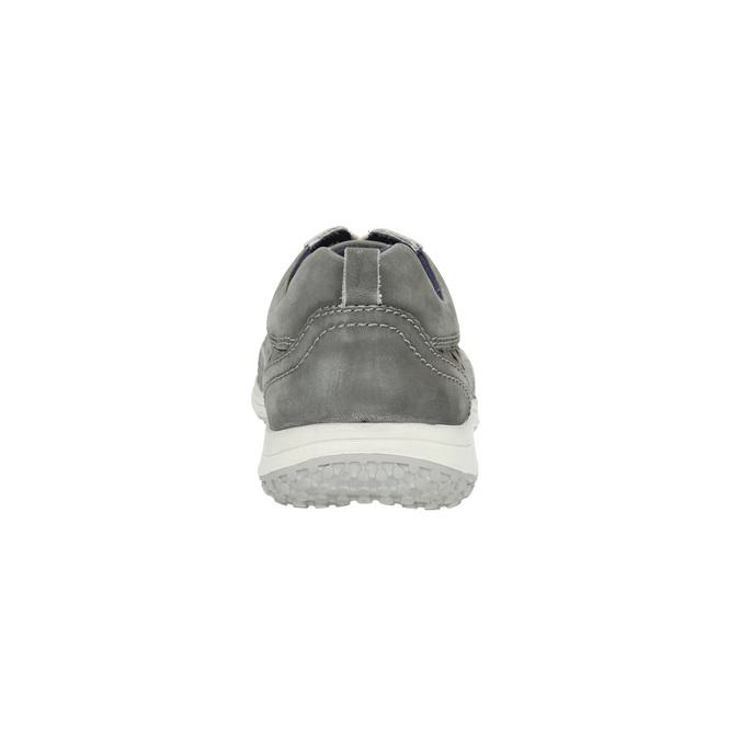 Leder-Sneakers mit Perforation bata, Grau, 846-2634 - 17