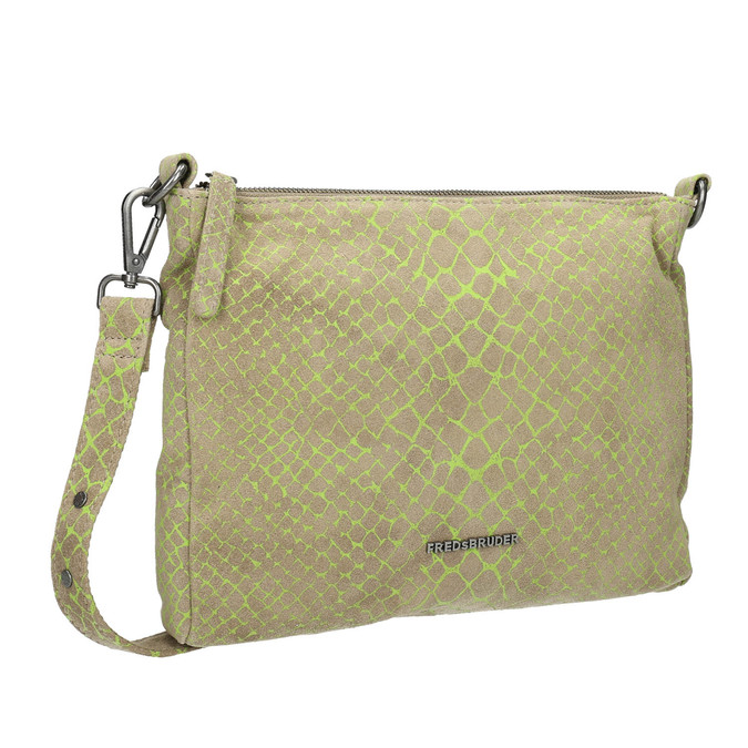 Damen-Crossbody-Handtasche aus Leder fredsbruder, Grűn, 963-7031 - 13