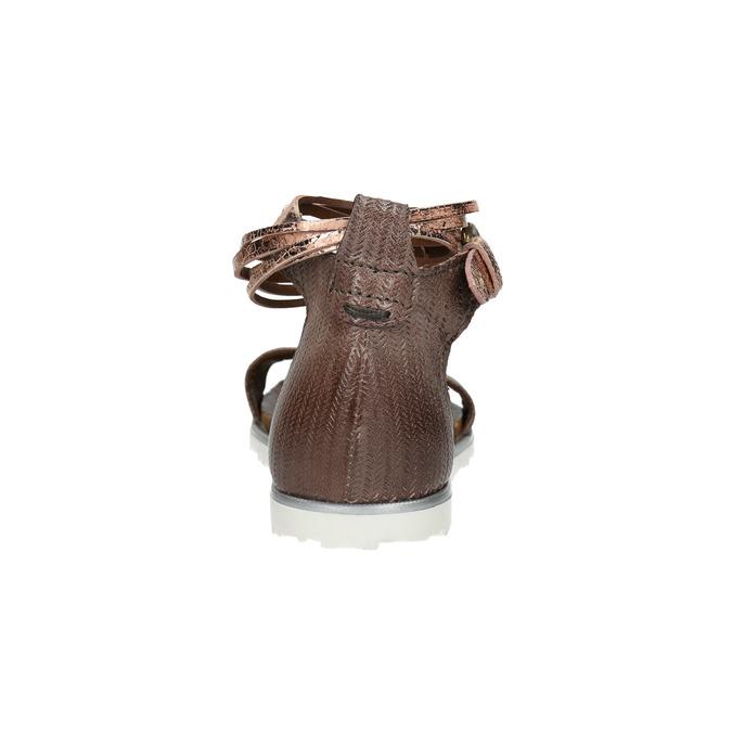 Damensandalen aus Leder bata, Braun, 566-4603 - 17