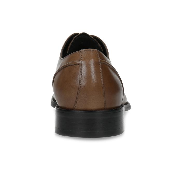 Braune Lederhalbschuhe im Derby-Look bata, Braun, 826-3646 - 15