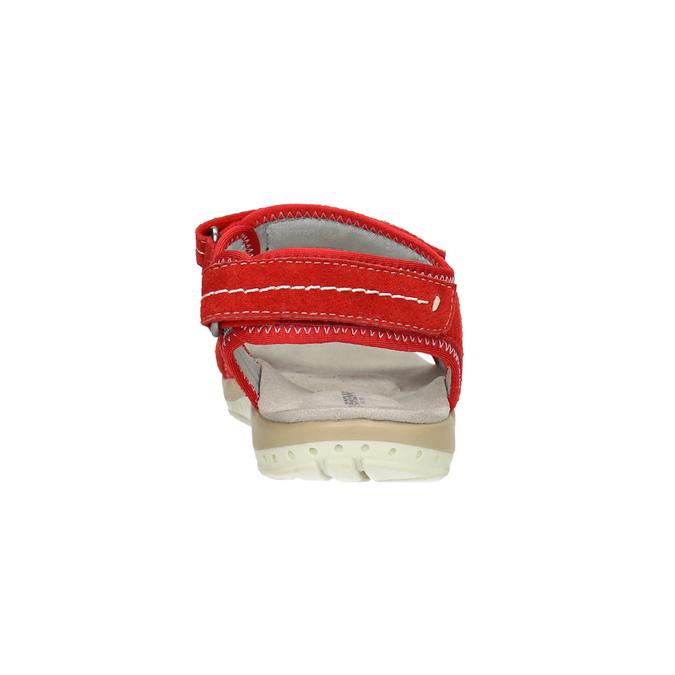 Rote Damensandalen aus Leder weinbrenner, Rot, 566-5608 - 17