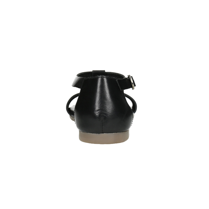 Schwarze Sandalen aus Leder bata, Schwarz, 564-6600 - 17