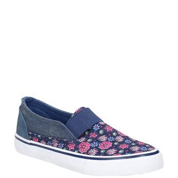 Mädchenschuhe im Stil der Slip-Ons mini-b, Blau, 329-9611 - 13