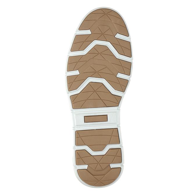 Knöchelhohe Herren-Sneakers aus Leder bata, Schwarz, 846-6641 - 19