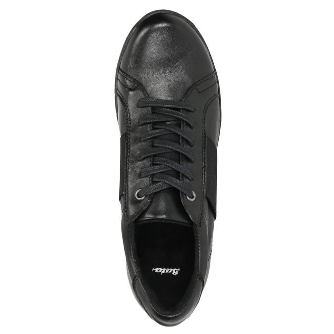 Legere Sneakers aus Leder bata, Schwarz, 524-6606 - 26