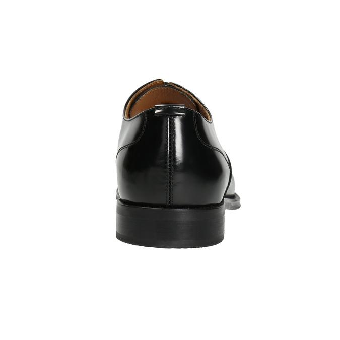 Schwarze Lederhalbschuhe im Oxford-Stil bata, Schwarz, 826-6671 - 16