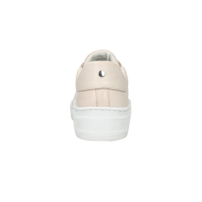 Damen-Sneakers aus Leder bata, Rosa, 526-5641 - 17