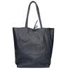 Damen-Shopper-Handtasche aus Leder bata, Blau, 964-9122 - 16
