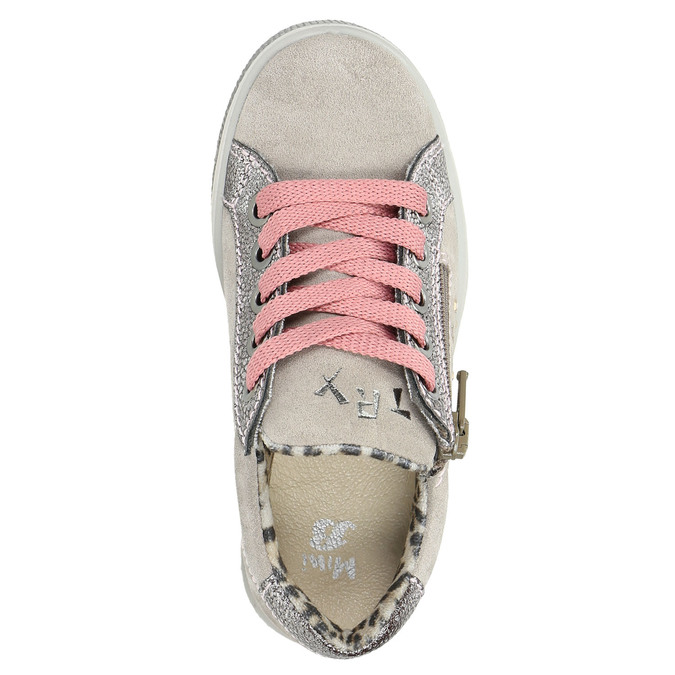 Kinder-Sneakers aus Leder mit Zwecken mini-b, Rosa, 323-5173 - 26