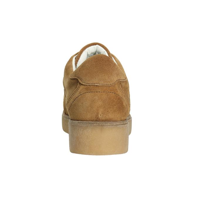 Braune Leder-Sneakers bata, Braun, 523-8604 - 17